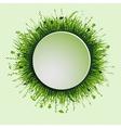 grassy circle vector image vector image