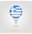 Greece flag pin map icon vector image