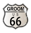 groom route 66 vector image vector image