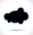 Halftone cloud shape with color aberrations vector image vector image