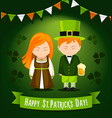 happy saint patrick day poster vector image