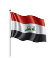 Iraqi flag on a white