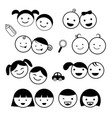 kids icons set vector image