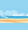 landscape background design seaside with big vector image vector image