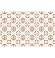 light background with light brown plant ornament vector image vector image