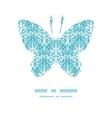 light blue swirls damask butterfly vector image vector image