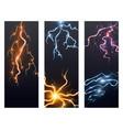 lightning bolt storm strike flayer brochure vector image