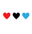 like and heart icon vector image