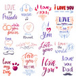 love lettring lovely calligraphy lovable vector image