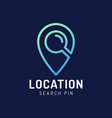 map point location logo city locator design vector image