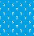 medal pattern seamless blue vector image vector image