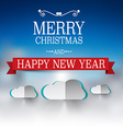 Merry Christmas and Happy New Year Text Winter vector image