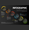 minimalist colorful infographic template vector image vector image