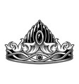monochrome vintage crown vector image