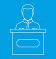 orator speaking from tribune icon outline style vector image vector image