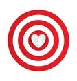 paper heart in center darts target aim vector image vector image