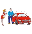 person gives or sells the car vector image