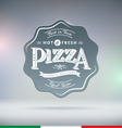 Pizza Label vector image vector image