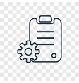 plan concept linear icon isolated on transparent vector image