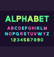 poster font and alphabet vector image