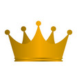 princess golden crown icon isolated on white vector image vector image