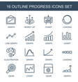 progress icons vector image vector image