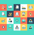 project management flat icons vector image