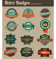 retro badges combined 3 vector image