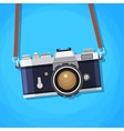 Retro camera in a flat style vector image