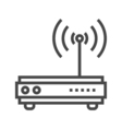 Router Line Icon vector image vector image