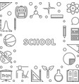 school concept outline frame linear vector image