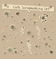 scrapbooking cute set in coffee colors vector image