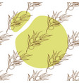 seamless pattern with the image of olive branches vector image vector image