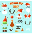 set christmas party elements vector image