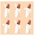 set muslim cartoon characters vector image