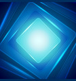 shiny dark blue squares abstract background vector image vector image