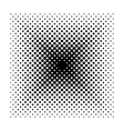 Square halftone geometric shapes Dot vector image vector image