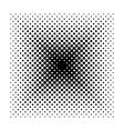Square halftone geometric shapes Dot vector image