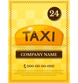 Taxi services vector image vector image