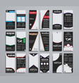 templates narrow black flyers 210x99 mm vector image vector image