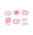 tender spring labels and logos with original vector image vector image