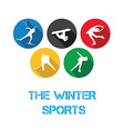 The winter sports vector image vector image