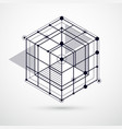 trend isometric geometric pattern black and white vector image vector image