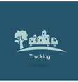 trucking houses icon vector image vector image