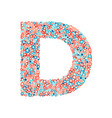 usa national holiday and celebration font letter d vector image vector image