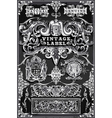Vintage Hand Drawn Banners and Labels on vector image vector image