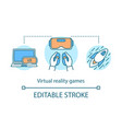 virtual reality games concept icon vector image vector image