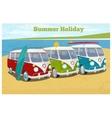 Summer travel design with camper van vector image