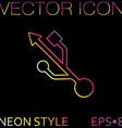 USB symbol usb icon computer sign vector image