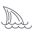 tail of a sharksea line icon sign vector image